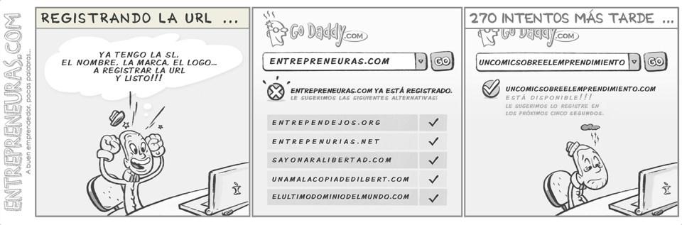 Registrando la URL - Entrepreneuras.com