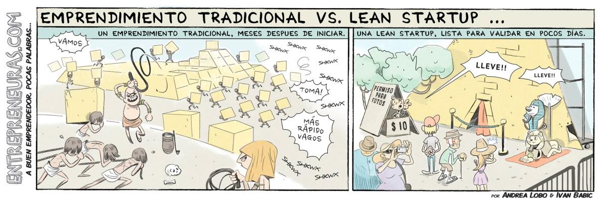 Emprendimiento Tradicional vs Lean Startup - Entrepreneuras.com
