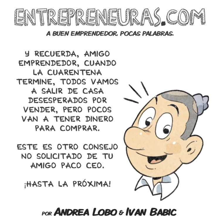 Consejo No Solicitado Coronavirus - Entrepreneuras.com