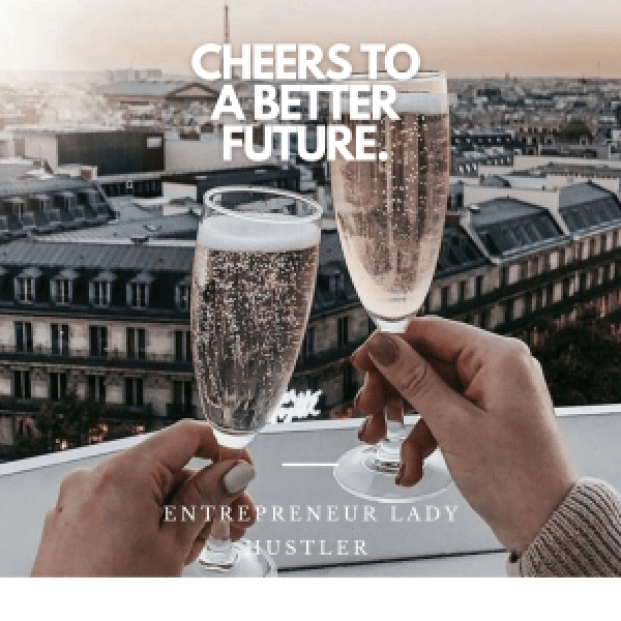 cheers to a better future champagne glass
