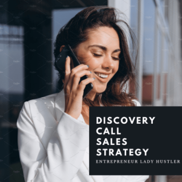 women holding a phone and having a Discovery call with a client