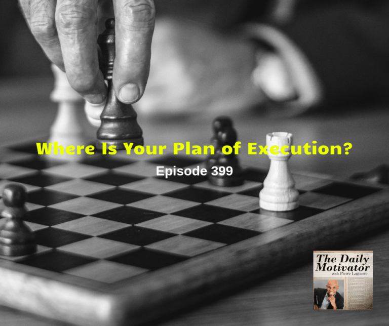 Where Is Your Plan Of Execution? Episode #399