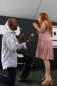 Pierre proposing to Jocelyn
