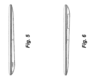 U.S. Patent D604,294 focused on the tapered clam-shell design of the MacBook Air.