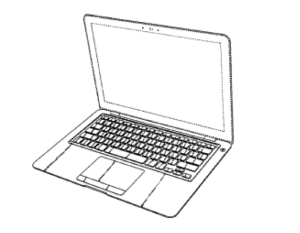 Apple has used a series of design patents as part of its strategy to protect its ornamental design of the MacBook Air.