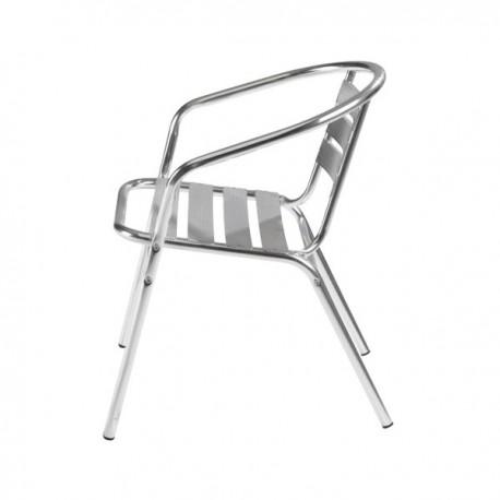 lot de 10 fauteuils de cafe en aluminium