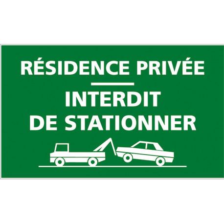 Panneau Residence Privee Panneau Interdiction De Stationner