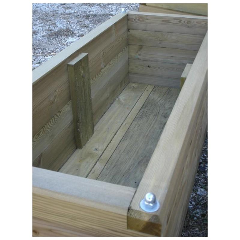 lot de 5 jardinieres mi bois autoclave rectangulaire entreprise collectivite jeux aires de jeux mobilier urbain mobilier interieur