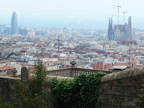 Vista de la ciudad de Barcelona desde el Parque Güell.