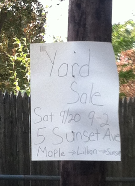 Entri WP: Yard Sale Advertising