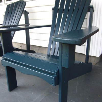 Dark Sea Blue Adirondack Chairs