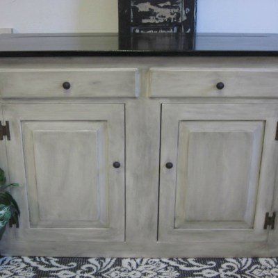 Antiqued-Rustic Storage Cabinet