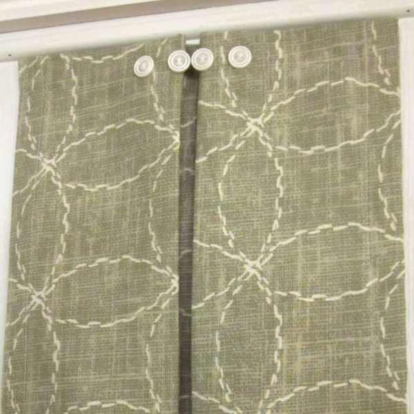 Sidelight Window Panels Green & White
