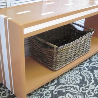 Modern Orange Two-Tier Lane Table