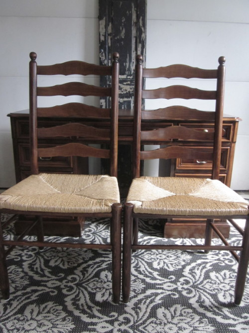 Ladderback chairs english chestnut