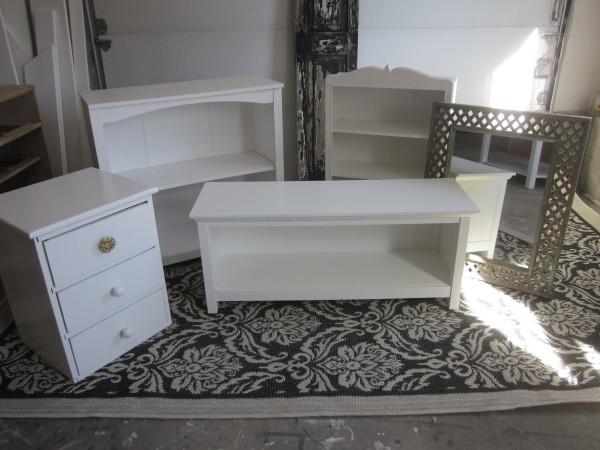 small white furniture