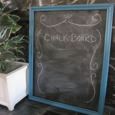 Making a Chalkboard from a Mirror Frame