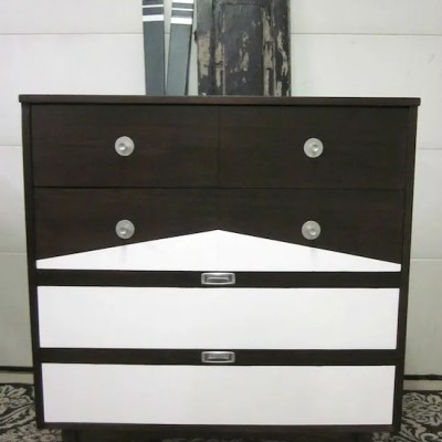 Tall MCM Two-Tone Dresser Makeover