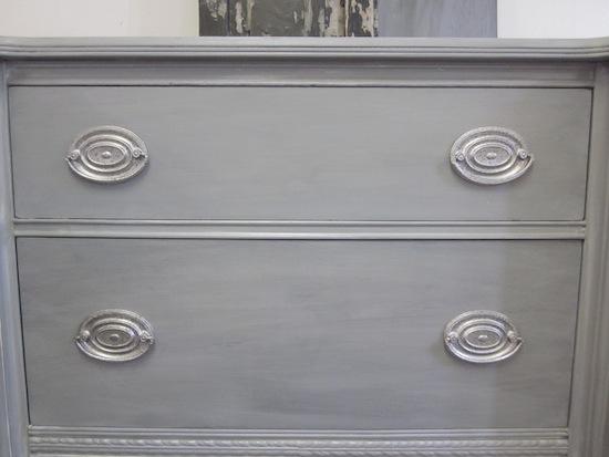 Blue Gray Buffet Hepplewhite Pulls
