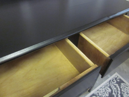Tall Black Dresser Flower knobs 1