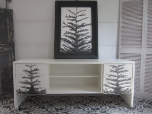 White Credenza with Trees