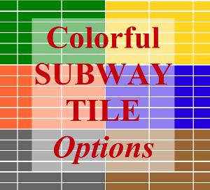 Colorful Subway Tile Options | Entri Ways
