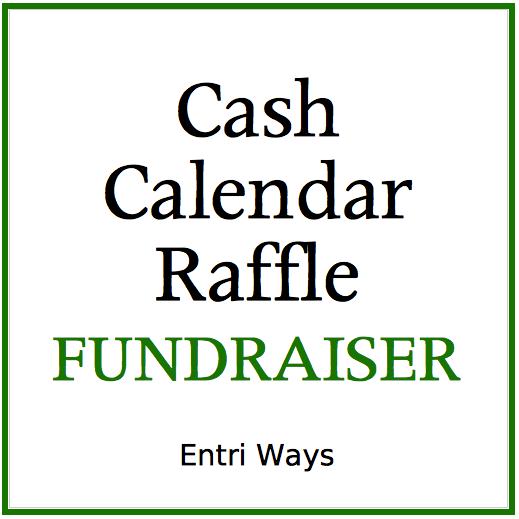 School Fundraiser Cash Calendar Raffle Entri Ways