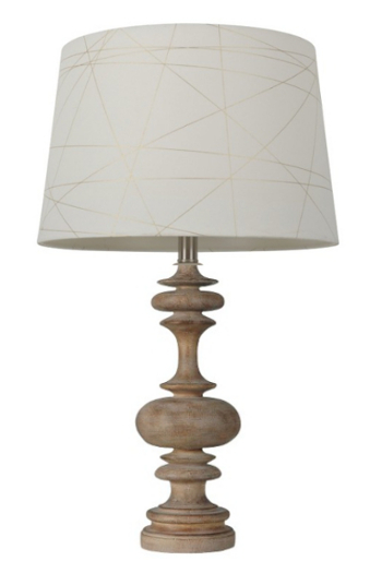 Threshold turned column wood lamp