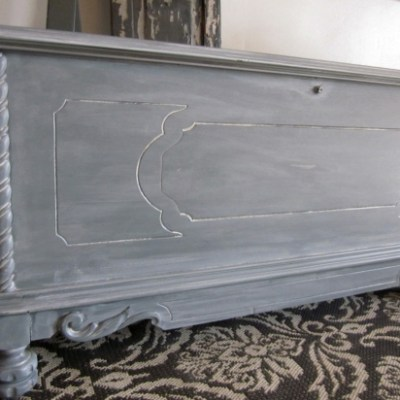 White-Washed Entryway Storage Bench