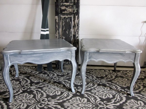 Gray French End tables