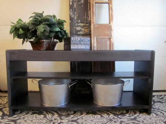 Gray sofa table