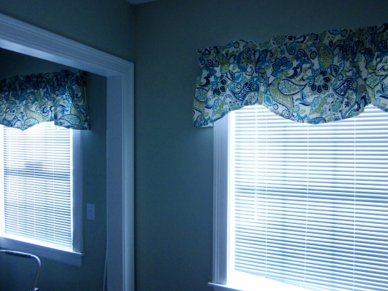 pair of window valances