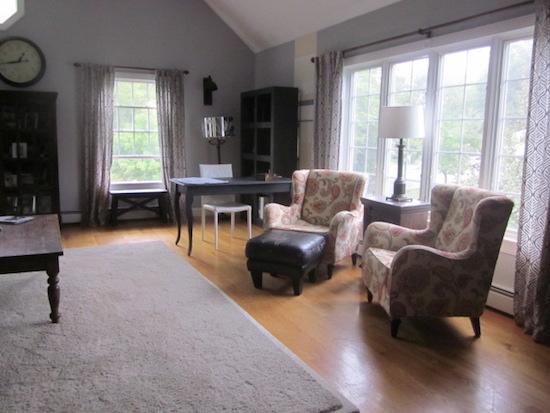 living room, club chairs