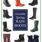 A Roundup of My Favorite Rain Boots for Spring