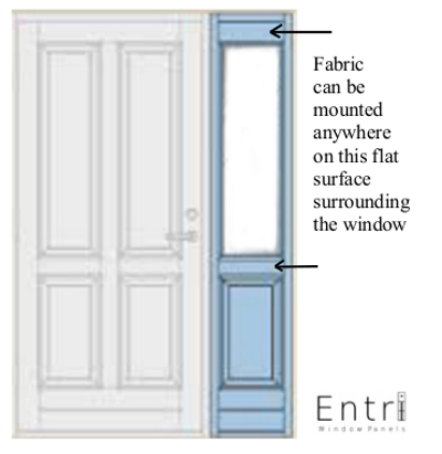 sidelight curtains | entri ways