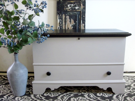 Gray Black Cedar Chest