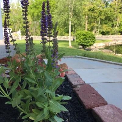 Building Brick Planters & Yard Work