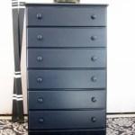 Benjamin Moore Polo Blue Dresser