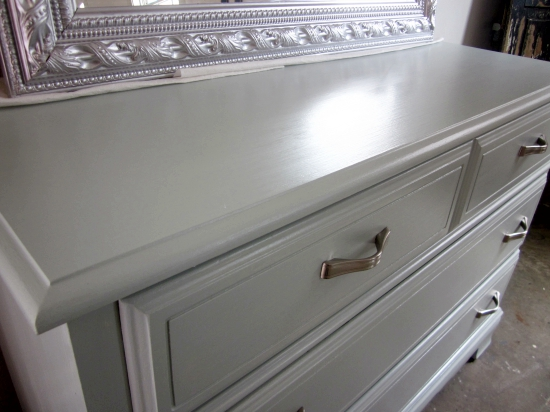 Benjamin Moore Woodlawn Blue Dresser