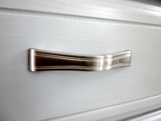 Silver drawer pulls, Woodlawn Blue Dresser