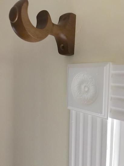 wood curtain brackets