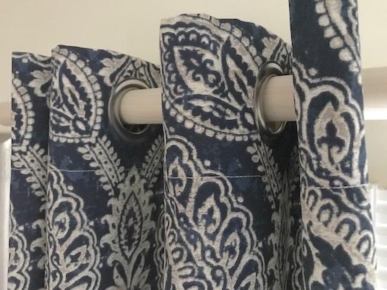 Blue Keegan Grommet Curtain