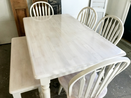 China White And White Washed Maple Table