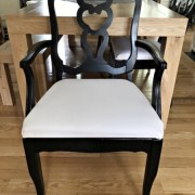 How to Fix a Broken Chair Back, 6 black dining chairs
