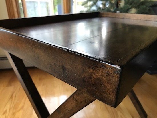 Dark Wood Tray Table