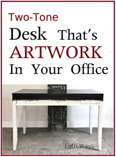 Two Tone Desk That's Artwork in your Office