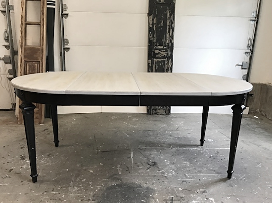 Vintage Oval Driftwood Gray Dining Table