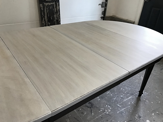 Oval Driftwood Gray Dining Table