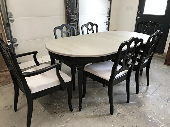Trend Oval Driftwood Gray Dining Table
