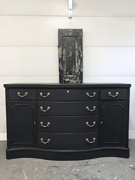 Black Dog Paint, Black Sideboard Gold Pulls